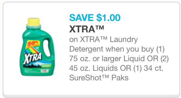 photo relating to Xtra Laundry Detergent Printable Coupon named Greenback In general: Xtra Laundry Detergent only $1.95 The