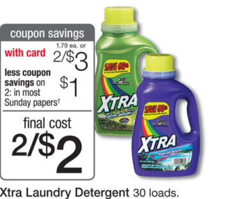 graphic regarding Xtra Laundry Detergent Printable Coupon titled Walgreens: Xtra Laundry Detergent $1! The Nuts Coupon